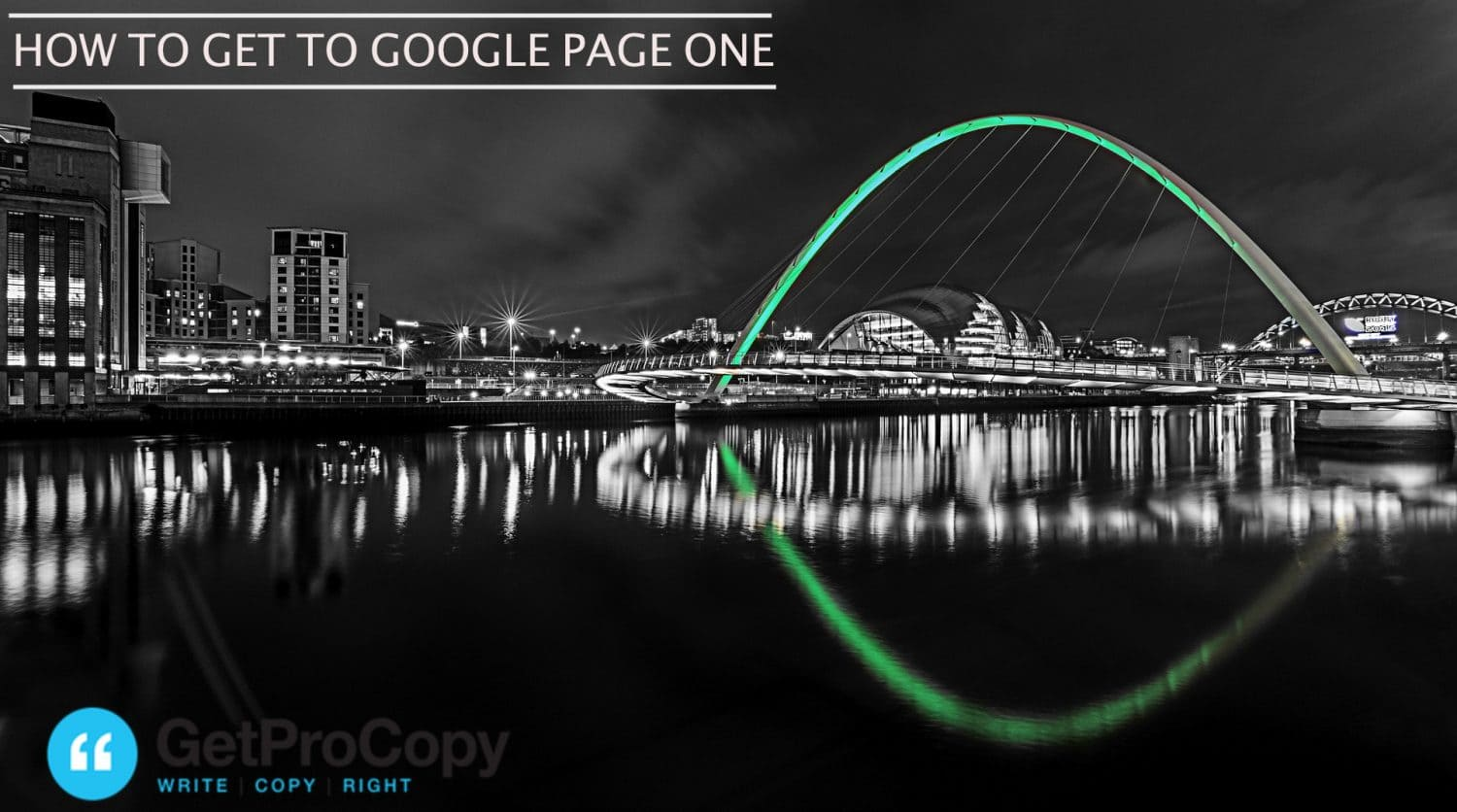 %name Google page one Newcastle
